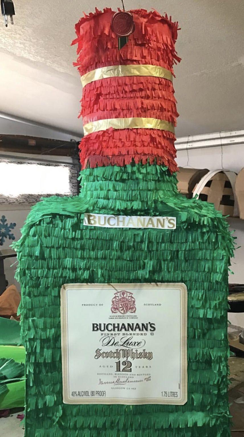 Buchanans Bottle Piñata I Made Piñatas In 2019 Birthday