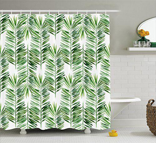 Bathroom Rugs Ideas Palm Tree Decor Shower Curtain By Ambesonne