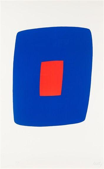 Ellsworth Kelly, Dark blue with red