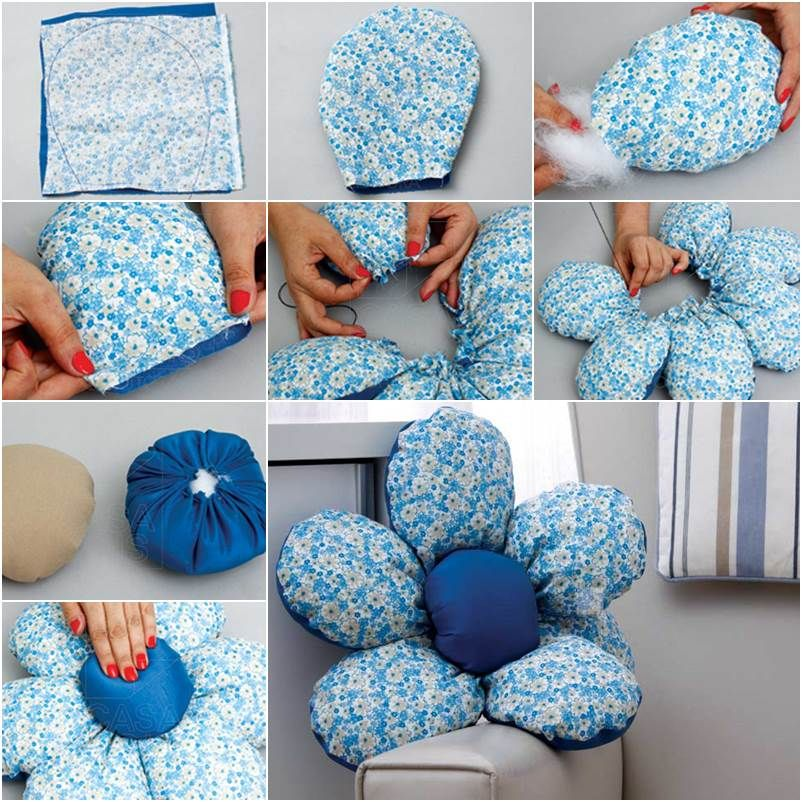DIY Beautiful Flower Cushion & DIY Beautiful Flower Cushion | Beautiful flowers Flower and Craft pillowsntoast.com