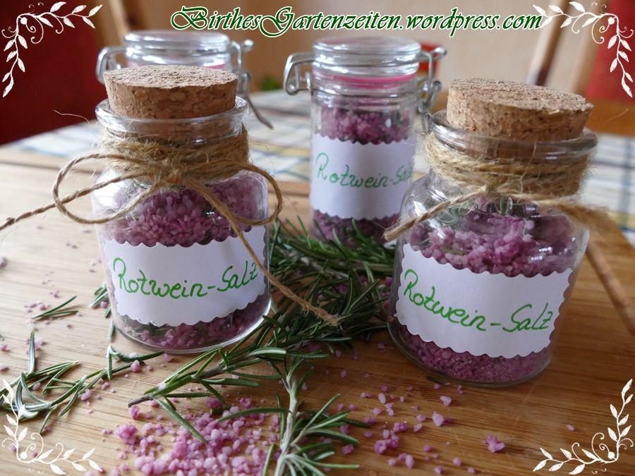 Geschenke aus der Küche] DIY: Rotweinsalz mit Rosmarin – dekorativ ...