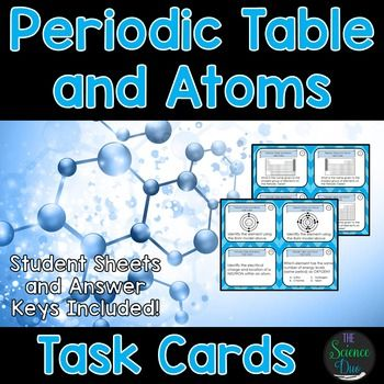 Chemistry Task Cards- Periodic Table and Atoms Periodic table - new periodic table atomic number and names