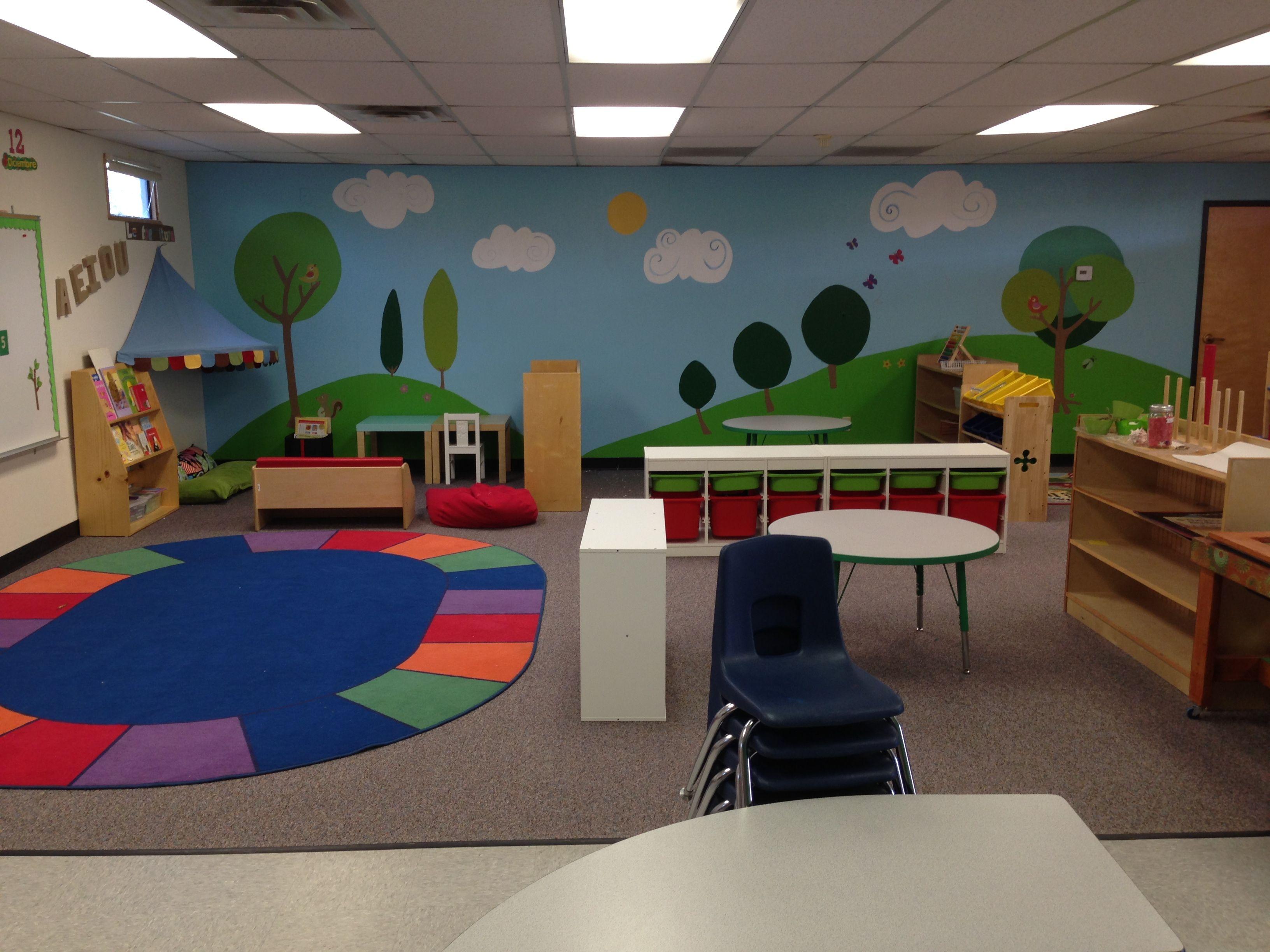 Classroom Mural Design ~ My classroom decor mural ikea phoenix az