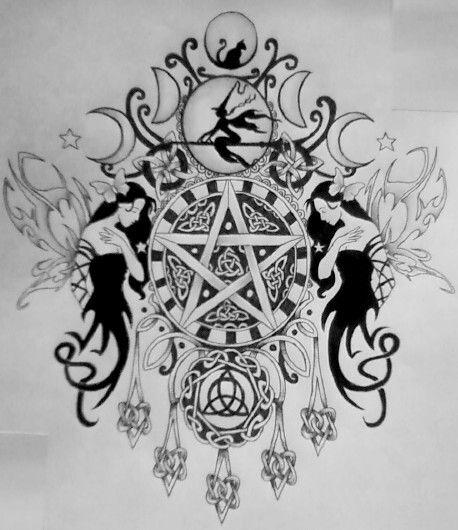wiccan tattoo pinteres. Black Bedroom Furniture Sets. Home Design Ideas