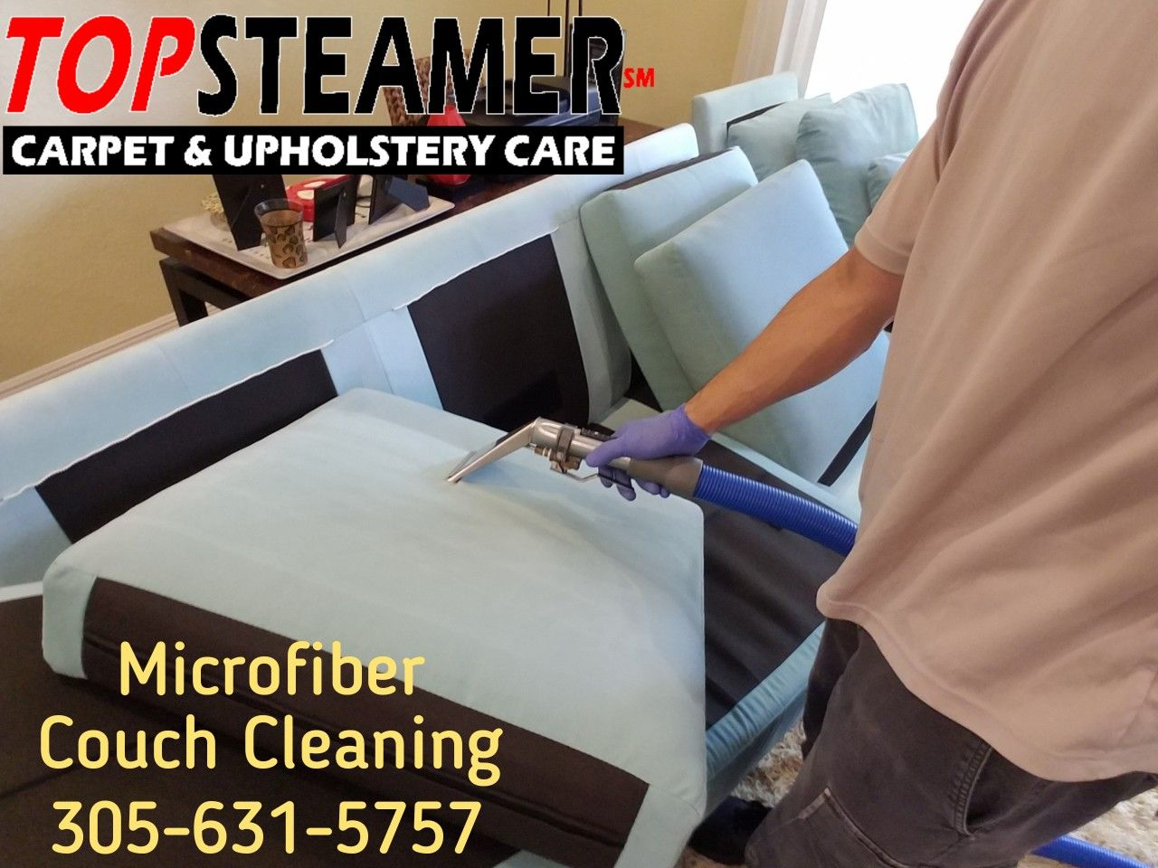Microfiber sofa cleaning in Coral Gables 3056315757