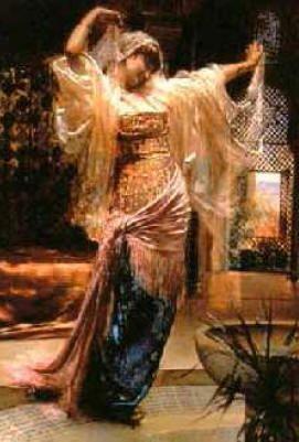 danseuse orientale tableau r alis par le peintre et architecte e richter en 1883 toiles. Black Bedroom Furniture Sets. Home Design Ideas