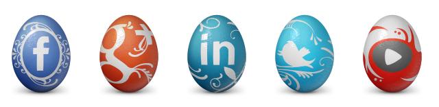 Easter Eggs Social Icons. Feliz pascua de resurreccion
