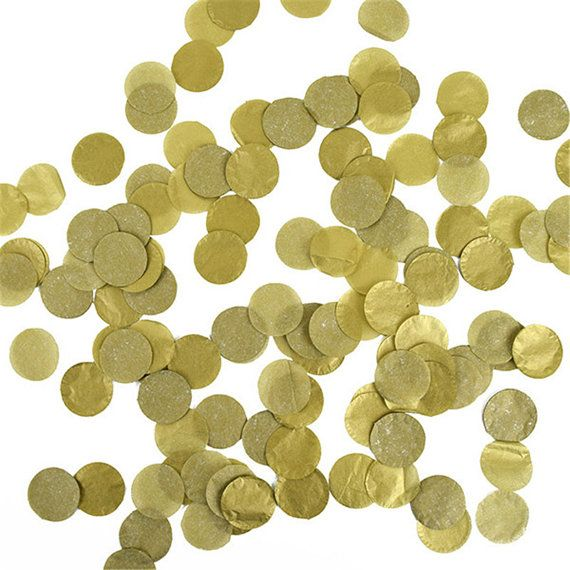gold tissue paper confetti 1 circle tissue confetti wedding party
