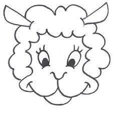 sheep face template google search first communion banner ideas