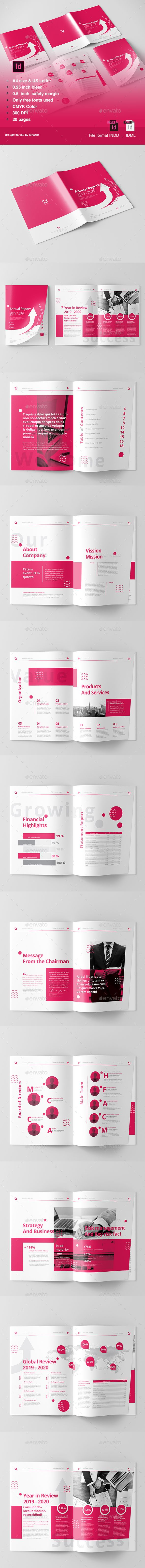 annual report print templates brochure booklet template