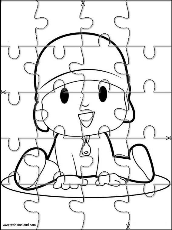 Puzzles Rompecabezas Recortables Para Imprimir Pocoyo 9 Puzles