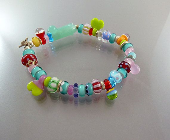 hand blown glass beads bracelet melanie moertel available on etsy