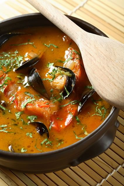This unusual fish soup recipe features hoki, which is a member of the hake family. Blue hake, whiptail hake, blue grenadiers, and New Zealand whiting are alternative names for this fish, which has a dense white flesh.