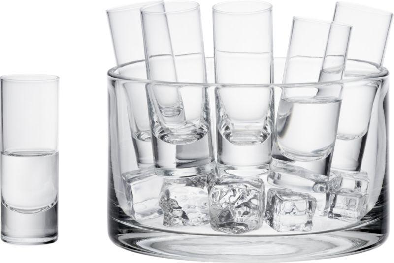 7-Piece Vodka Set in Cordial Glasses | Crate and Barrel. I love mine!!