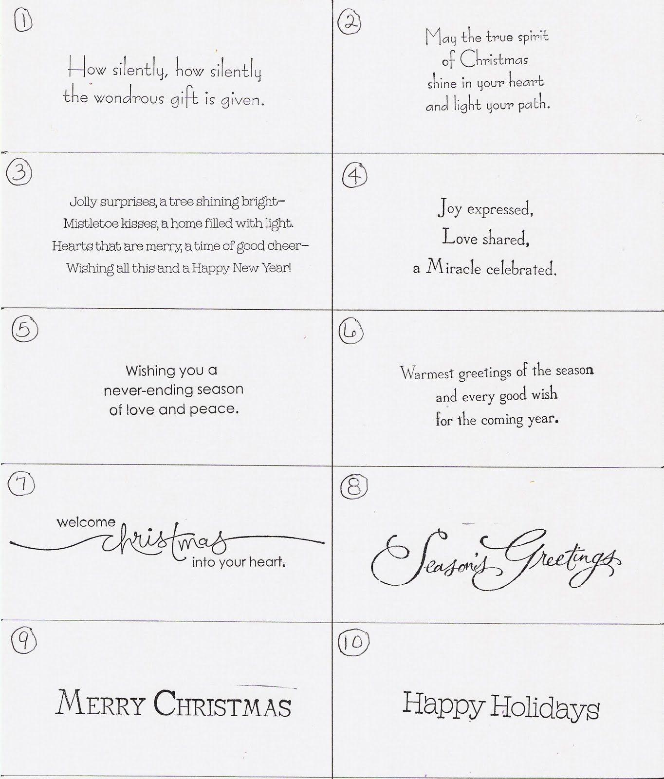 Christmas Card Greetings Sayings Christmas Card Sayings Funny
