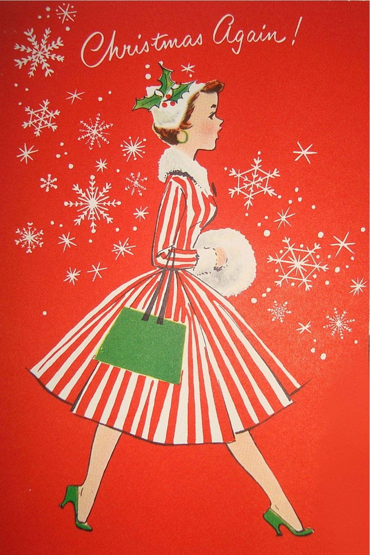 i 39 m old fashioned christmas cards vintage weihnachten. Black Bedroom Furniture Sets. Home Design Ideas
