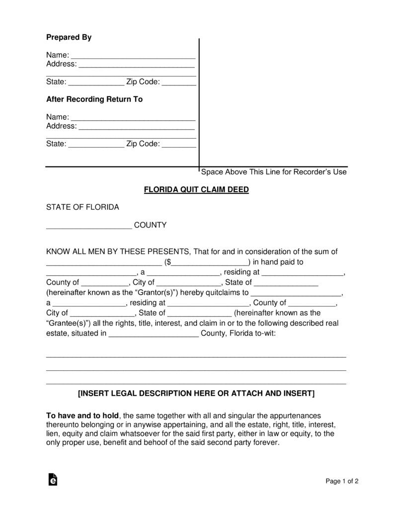 28 Sample Quitclaim Deed Form In 2020 Separation Agreement