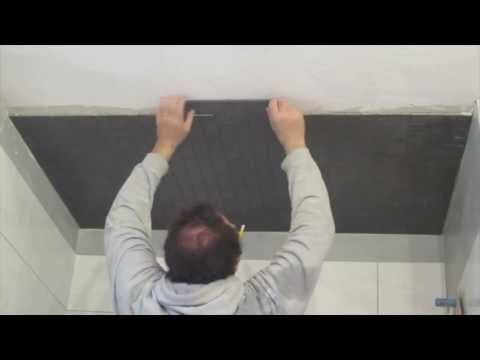 How To Install Mosaic Tile On A Ceiling Youtube Mosaic Tiles Ceramic Tile Bathrooms Shower Ceilings