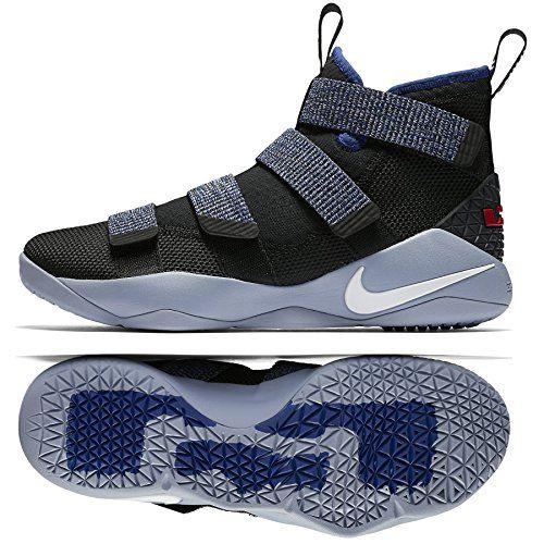 80bdec76419c3 NIKE Lebron Soldier Xi 897644 005 Black White Deep Royal Blue Men s  Basketball Shoes (10)