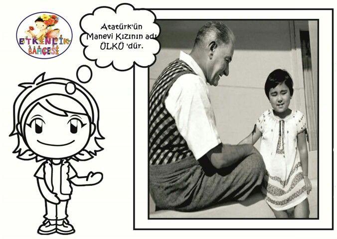 Ataturk Manevi Kizi Boyama Kitaplari Okul Oncesi Okuma