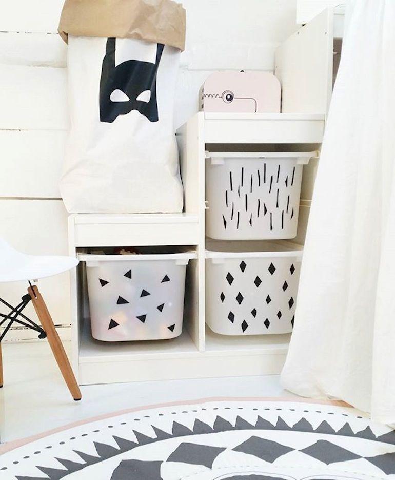ikeahackdecoratedtrofast en 2020   Ikea chambre enfant, Chambre enfant, Customiser meuble ikea