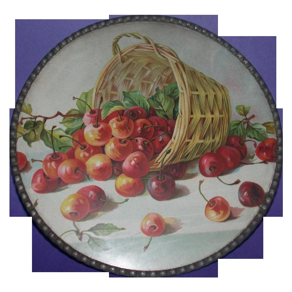 Antique German Flue Cover, Victorian - Overturned Basket ...