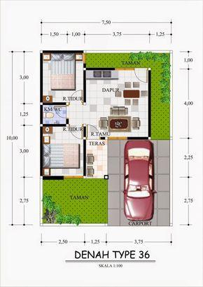 25 Contoh Denah Rumah Minimalis Type 36 Berbagai Model Renovasi Rumah Net Projetos De Casas Pequenas Projetos De Casas Simples Projetos De Casas