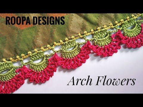 Latest saree kuchu /Flowers Design/ಫ್ಲವರ್ ಡಿಸೈನ್ ಹಾಕುವುದು ತುಂಬಾ ಸುಲಭ /Try it - YouTube #blousedesigns