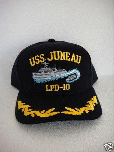 size 40 9f9b1 12954 captain navy ship command ball cap officer USS JUNEAU LPD-10 ball cap hat  USA