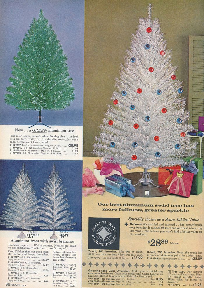 vintage aluminum christmas trees in 1961 sears catalog - Christmas Tree Sears