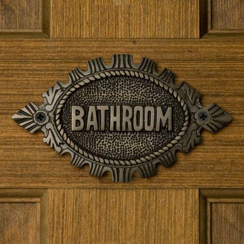 Oval Bathroom Sign Doors, Bath and Bathroom doors