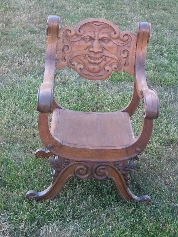 Amazing I Have An Antique Hand Carved Wood Chair With A Face On It Interior Design Ideas Lukepblogthenellocom