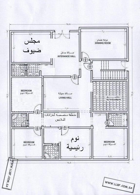 مخطط دور صغير Home Map Design House Map House Layout Plans