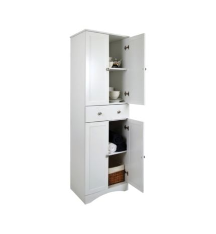 Canadian tire 4 door storage cabinet with drawer meubles for Cabinet salle de bain
