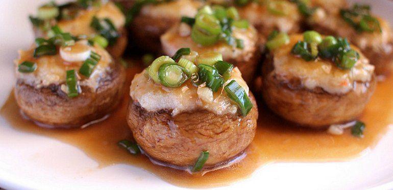The Best Stuffed Chinese Mushrooms Recipe   Dim Sum Central   Stuffed mushrooms, Food, Chinese mushrooms