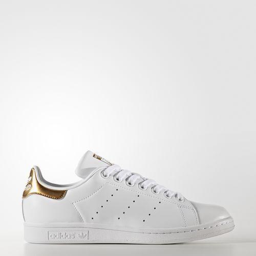 $80 Adidas Women Stan Smith white footwear white gold BB5155