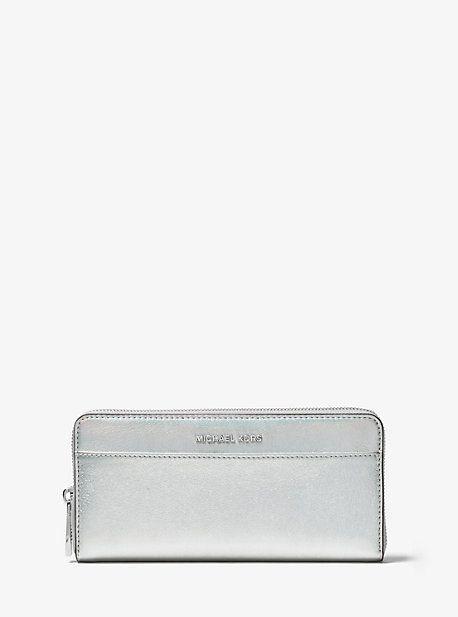 a1b596460c08 Michael Kors Jet Set Iridescent Leather Continental Wallet ...