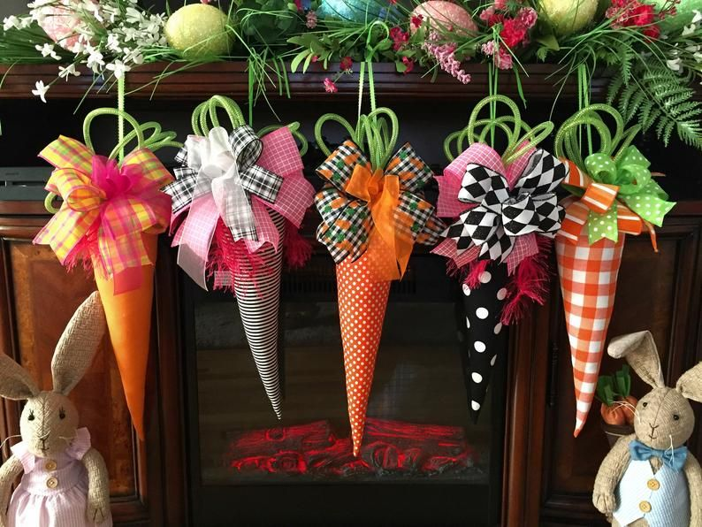 Easter fabric carrots hanging large fabric carrots Easter