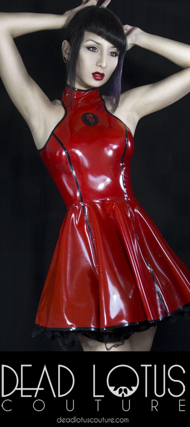 Designer Latex Clothing | Sakura Dress Dead Lotus Couture Latex Pinterest Latex Dress