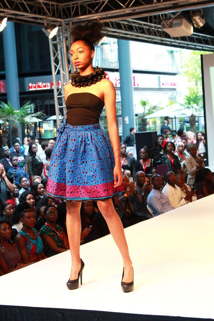 'Ankara' skater skirt: #Latest'ankara'styles, #chitengeskaterskirt, #ankaraskaterskirt, #kitengeskaterskirt, #blue&redskaterskirt