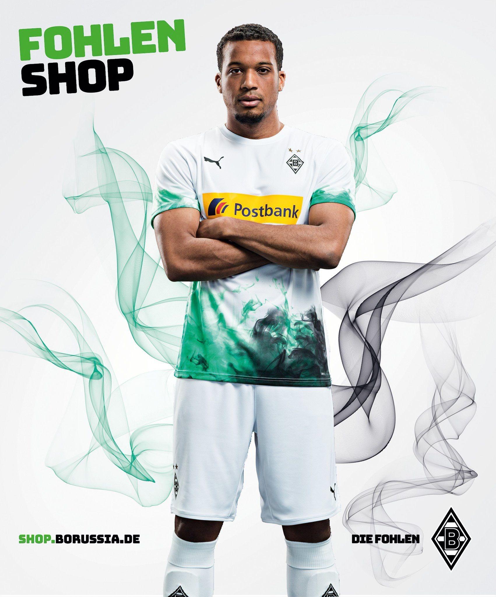 Borussia M Gladbach 2019 2020 Home Kit Football Kits Poster Football