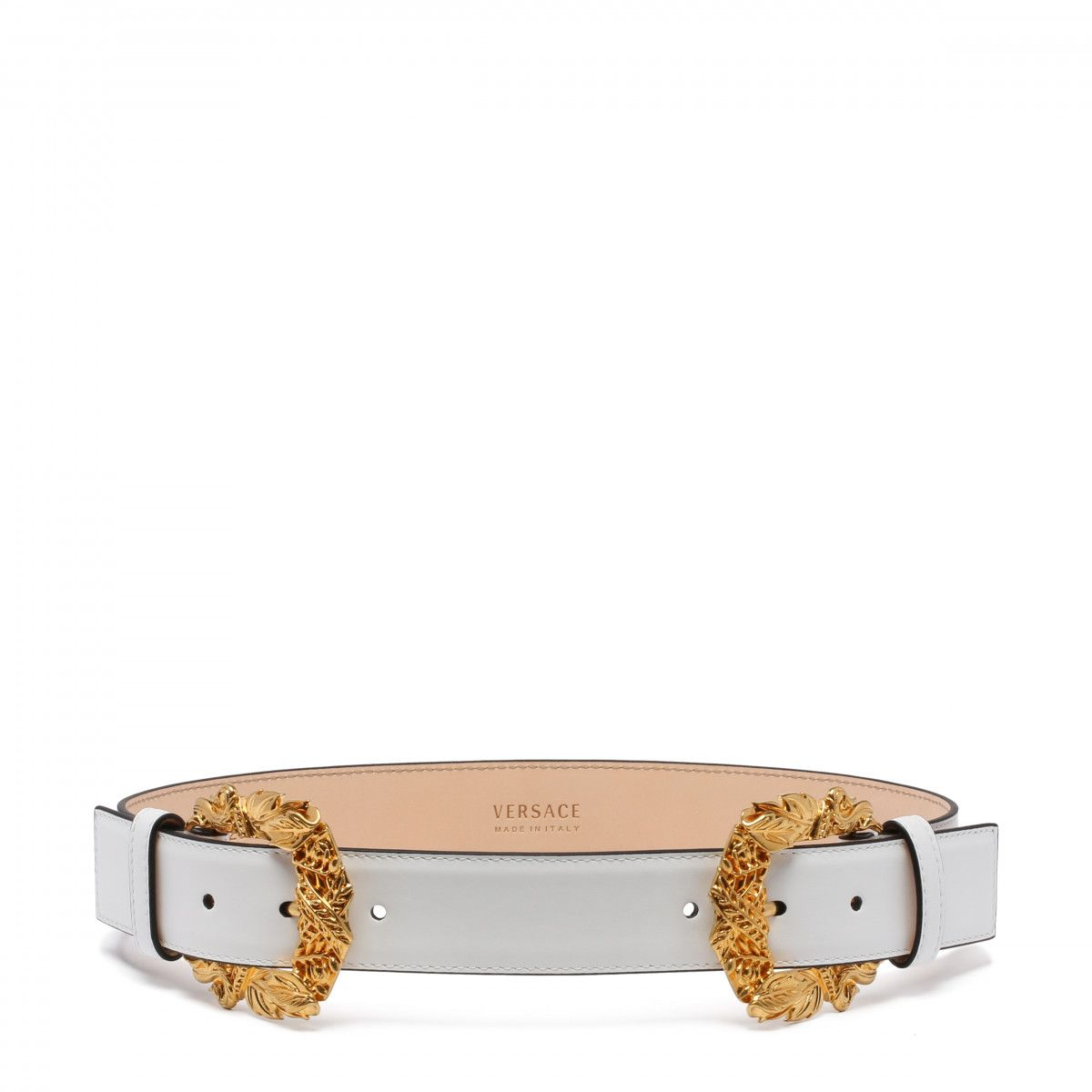 6e04811ea0 Double baroque buckle white tribute belt - ANTONIA | STYLE | Pinterest