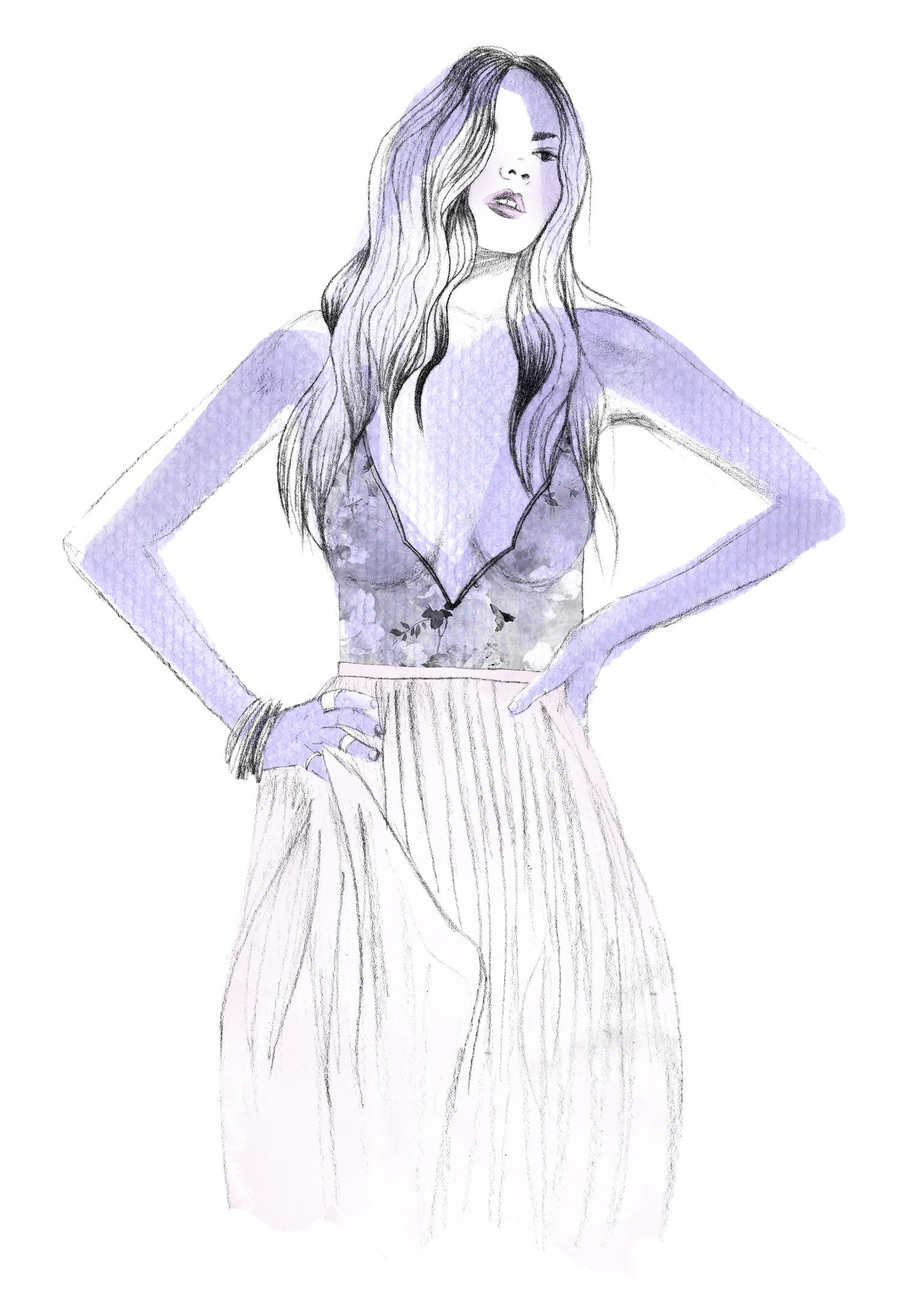 BELLE OF THE BALL MAXI DRESS The floral dresses I die for...  #catalinagraphic #watercolor #fashion #illustration