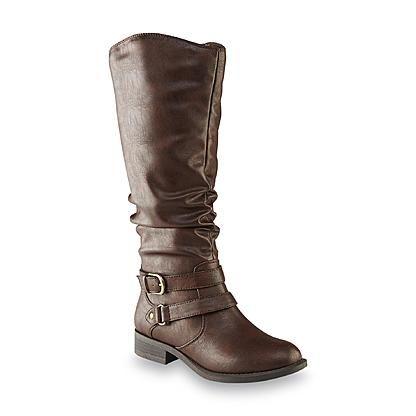 3dd776f1c8b kmart Jaclyn Smith Women's Erica Black Riding Boot – Wide Width ...