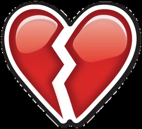 Sad emoji heartbroken. Broken heart smileys stickers