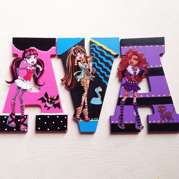 Room Decor · Monster High Wall Letters