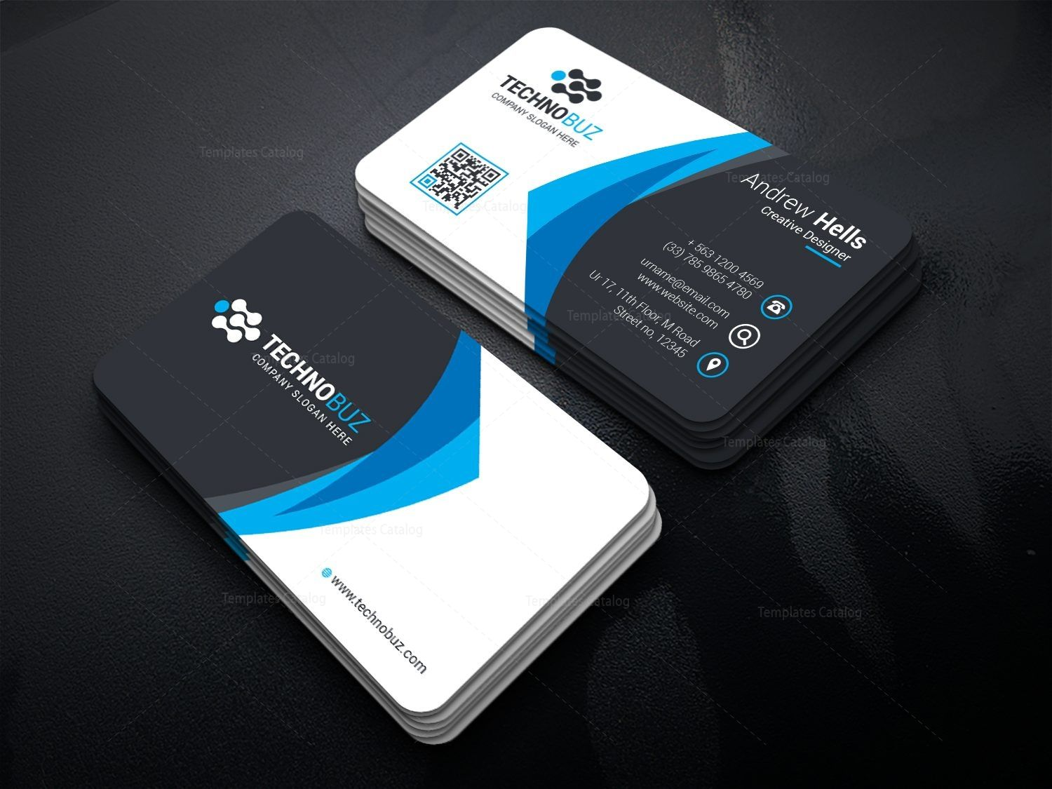 Modern premium business card template 000738 premium business modern premium business card template 000738 colourmoves