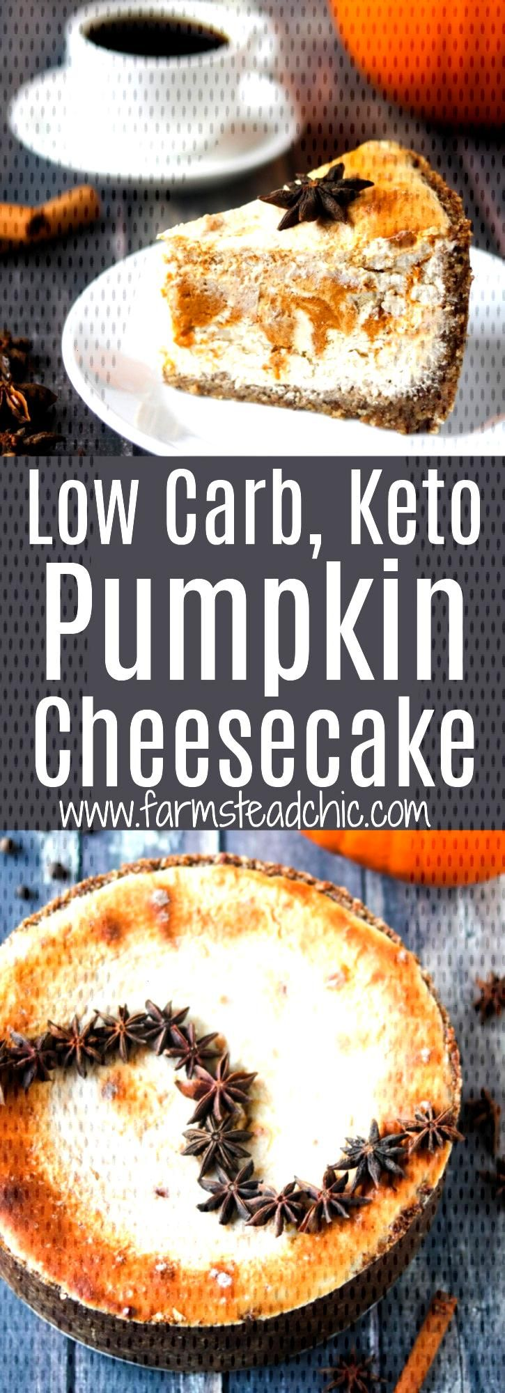 Keto Pumpkin Cheesecake, Low Carb, No Added Sugar -