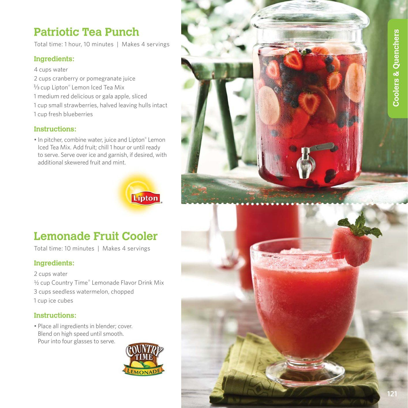 Patriotic Tea Punch Fourth Of July Pinterest Teas Summer