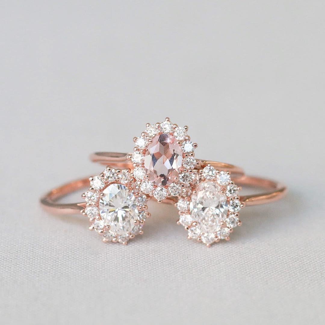 b1b8c7f1a Moissanite, Morganite & diamond 💕by Olive Avenue Jewelry | rose ...